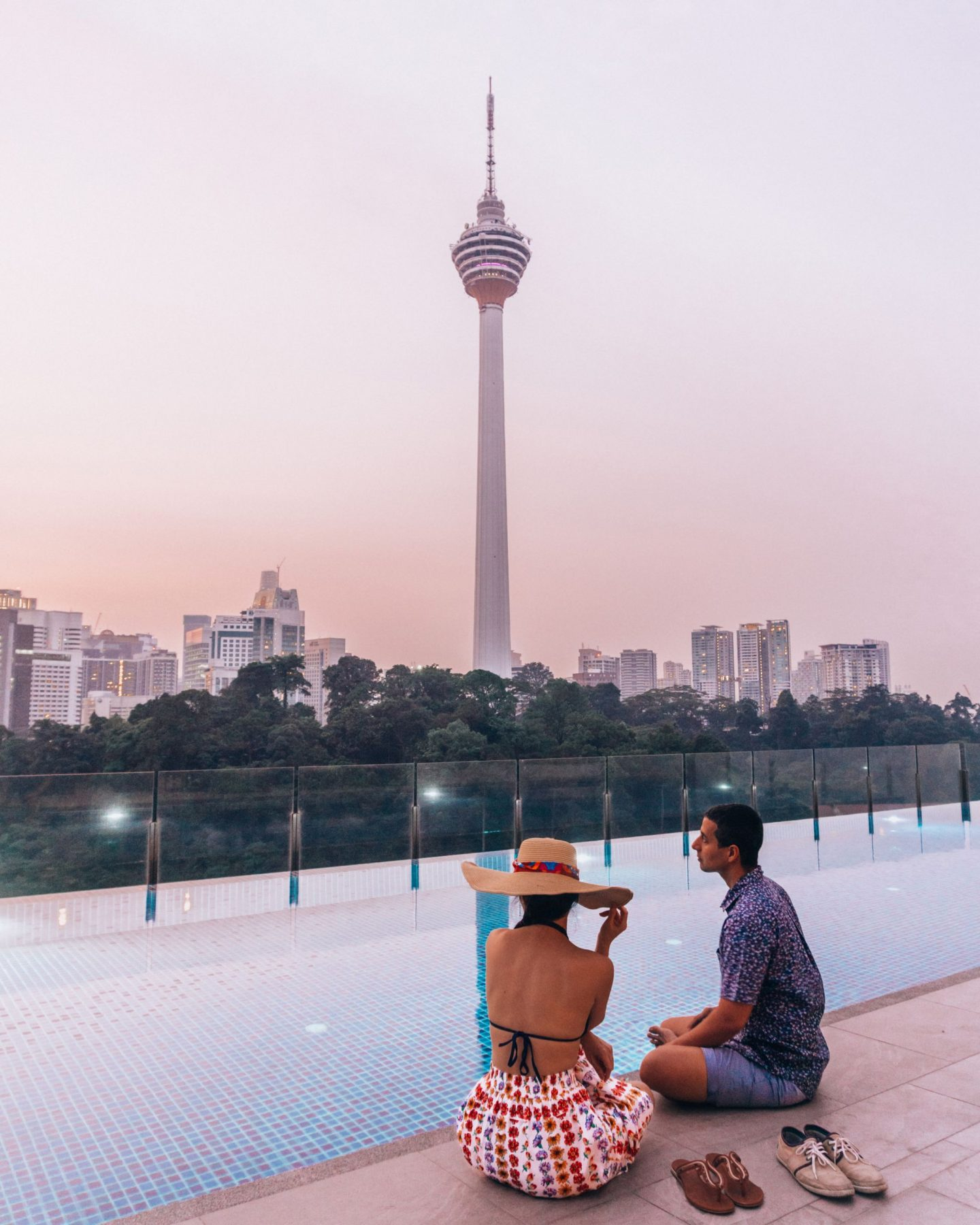 Couple at KL Tower
