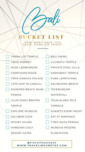 Bucket List Bali